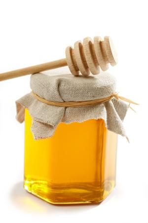 honey bees: Honey with wood stick