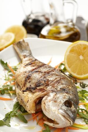 fish with lemon photo