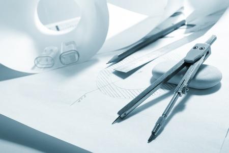 engineers work table