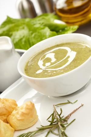 Spinach cream soup photo