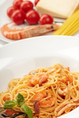 Pasta with Shrimps photo