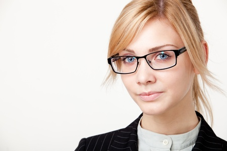 Young beautiful businesswoman  photo