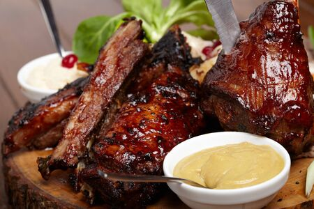 flavorful: delicious BBQ ribs