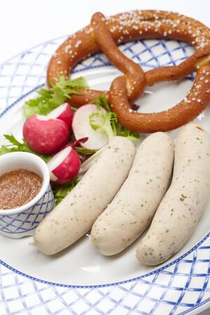 sausages with pretzel Stock Photo - 13024155