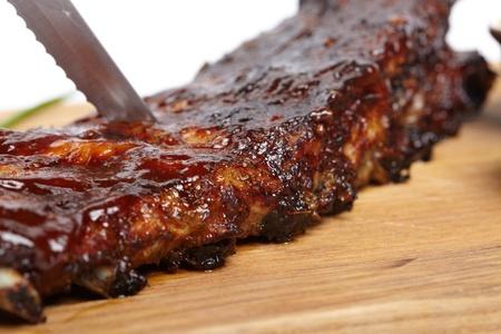 barbecue ribs: deliciosas costillas BBQ Foto de archivo