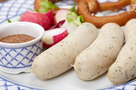 sausages with pretzel Stock Photo - 13304469
