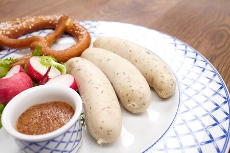 sausages with pretzel photo