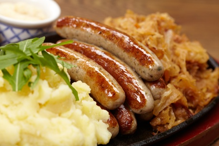 sausage with cabbage Stock Photo - 13254696