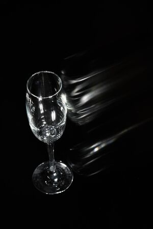 Glass on black Stock Photo - 13254448