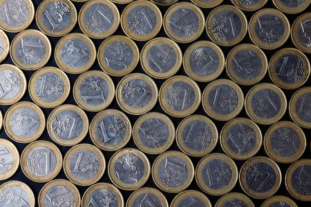 euro coins background  photo