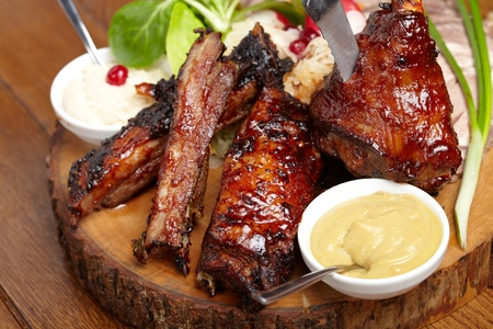 delicious BBQ ribs Stock Photo - 13489558