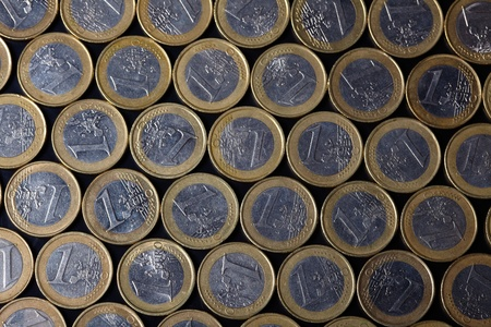 euro coins background  photo
