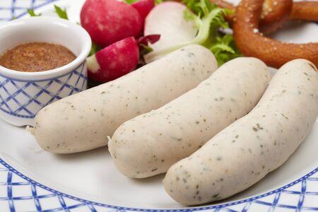 sausages with pretzel Stock Photo - 13924521