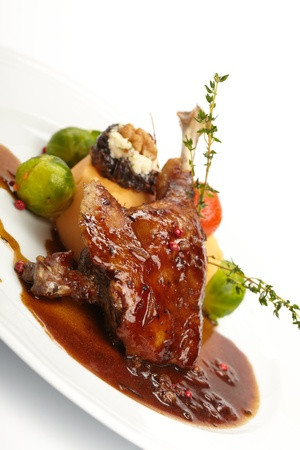 duck with potatoes photo
