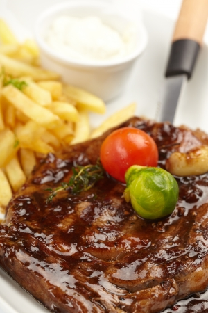steak with French Fries photo
