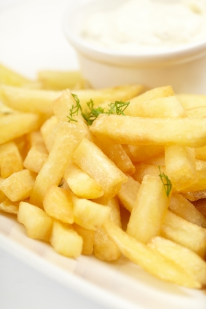 frites: french fries with sauce
