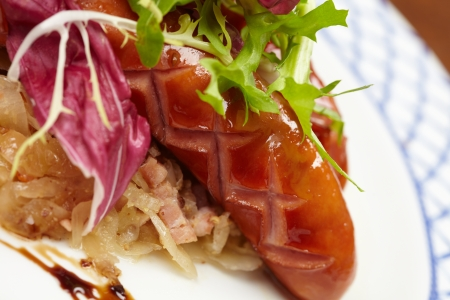 sausages with cabbage  photo