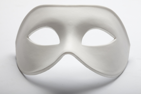 canvass: white mask
