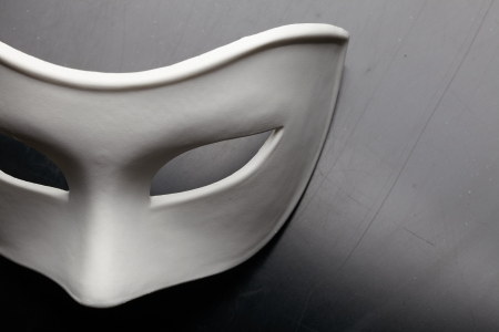 theater: wit masker Stockfoto