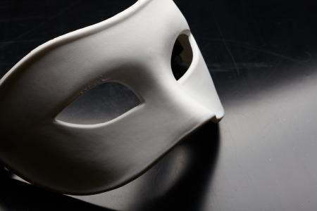 wit masker Stockfoto