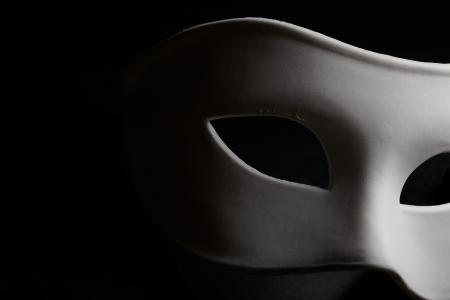 theatre: wei�en Maske Lizenzfreie Bilder