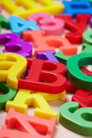Plastic alphabet letters Stock Photo - 16289052