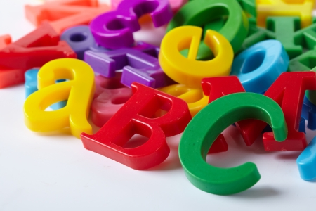Plastic alphabet letters Stock Photo - 16288741