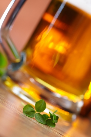 clover and beer Stock Photo - 16290170