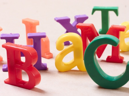 Plastic alphabet letters  Stock Photo - 16288159