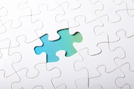 piece of jigsaw puzzle  photo