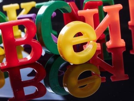 Plastic alphabet letters  Stock Photo - 16724975