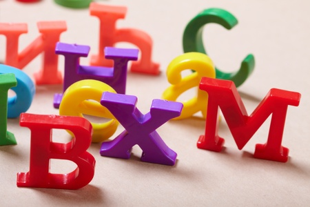Plastic alphabet letters  Stock Photo - 16879625