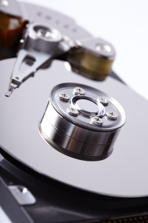 opened hard disk drive photo