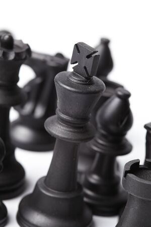 chess pieces on the board photo