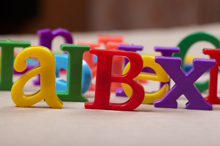 Plastic alphabet letters  Stock Photo - 17374479