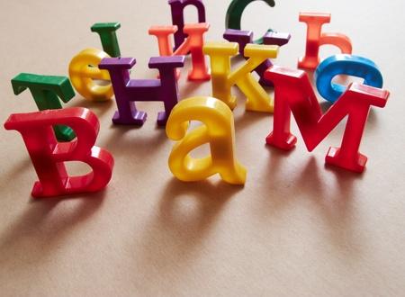 Plastic alphabet letters  Stock Photo - 17938256
