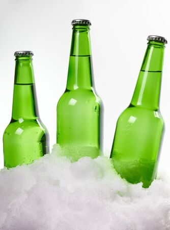 beer bottles in snow Stock Photo - 18598546