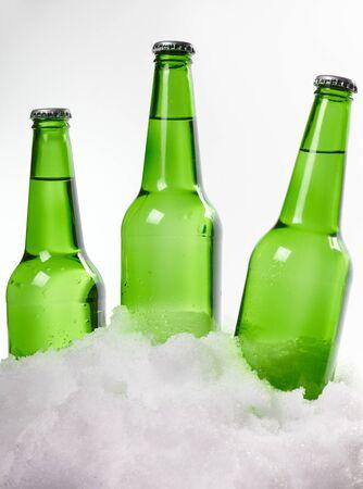 beer bottles in snow Stock Photo - 18598546