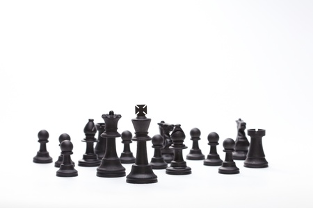 chess pieces on the board Stock Photo - 19514385