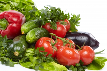 nutrition health: fresh vegetables Stock Photo