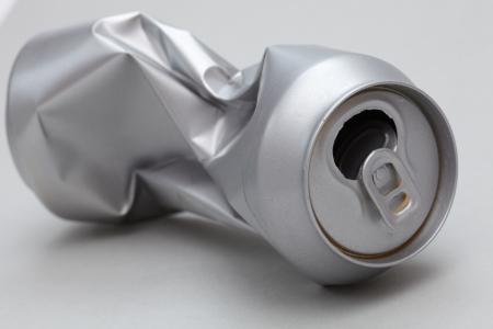 crushed aluminum cans: Crushed Aluminum Can