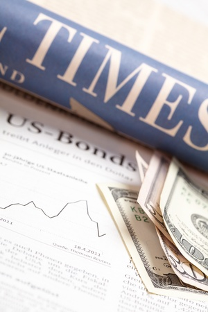 dow: Financial newspaper with paper