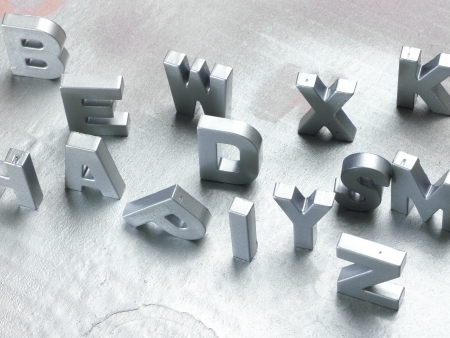 silver letters Stock Photo - 20733016
