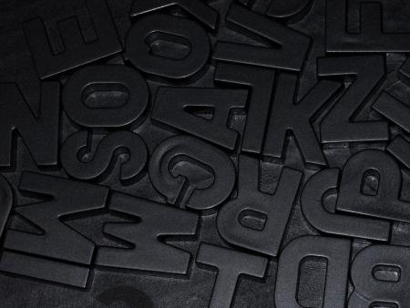 black letters photo