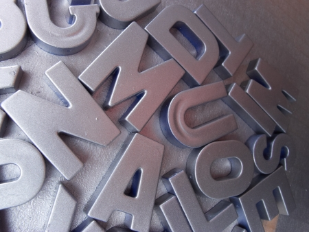 silver letters photo
