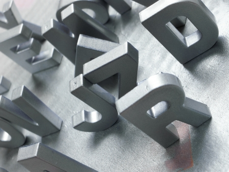 silver letters Stock Photo - 21269683