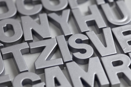 Silver letters Stock Photo - 21269690