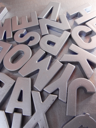 silver letters Stock Photo - 21269698