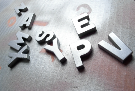 silver letters Stock Photo - 21349440