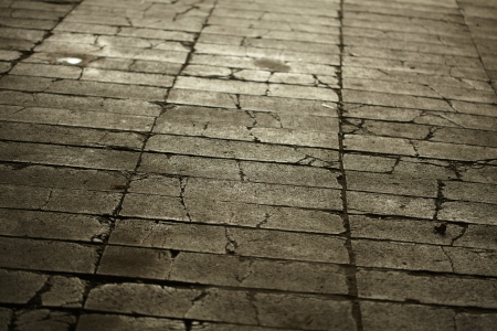 texture of gray tiled pavement city ground photo